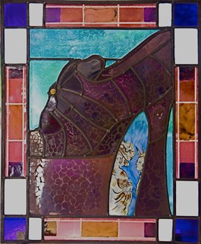 Annie Aitken - Stained Glass. Vivienne's Shoe